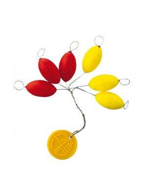 Cormoran Easy Use Floater, ovale, jaune/rouge, 20x9mm, 4 pcs, ligne d'arrêt