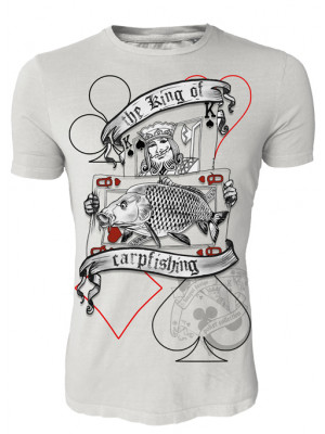 Hotspot Design Angler T-Shirt The king of carpfishing, Poker Collection, Sz. M