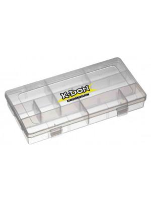 K-DON Boîte de rangement Modèle 1006, Petite boîte à leurre transparente, 23 x 12 x 3.5cm