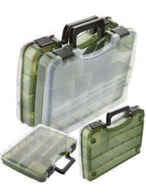Cormoran Boîte de rangement Modèle 10015, boîte de leurre, 28 x 22 x 6cm, séparer en deux parties