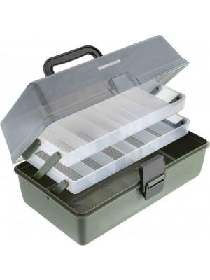 Cormoran Boîte de rangement Modèle 11001, 30 x 18 x 14.5cm, 2-niveaux