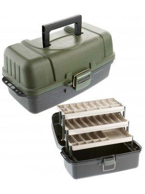 Cormoran Boîte de rangement Modèle 10004, 48 x 25 x 25cm, 3-niveaux, extra grande