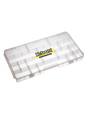 K-DON Boîte de rangement Modèle 1009, grande boîte à leurre transparente, 40 x 22 x 8cm