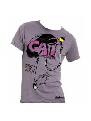 """Hotspot Design T-shirt """"Catfishing"""", Sz. L, T-shirt pour les pêcheurs de silure"""