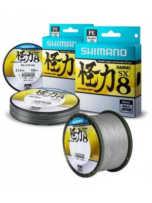 Shimano Kairiki SX8, 2700m, Gris acier, 8x Ligne de pêche tressée