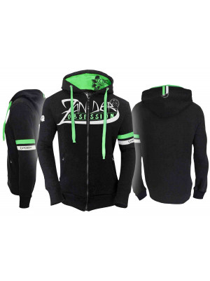 Hotspot Design Zipped Sweat Zander Obsession, Chandail à capuche, Taille M