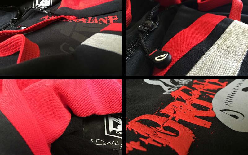 hotspot design sweater adrenaline zip